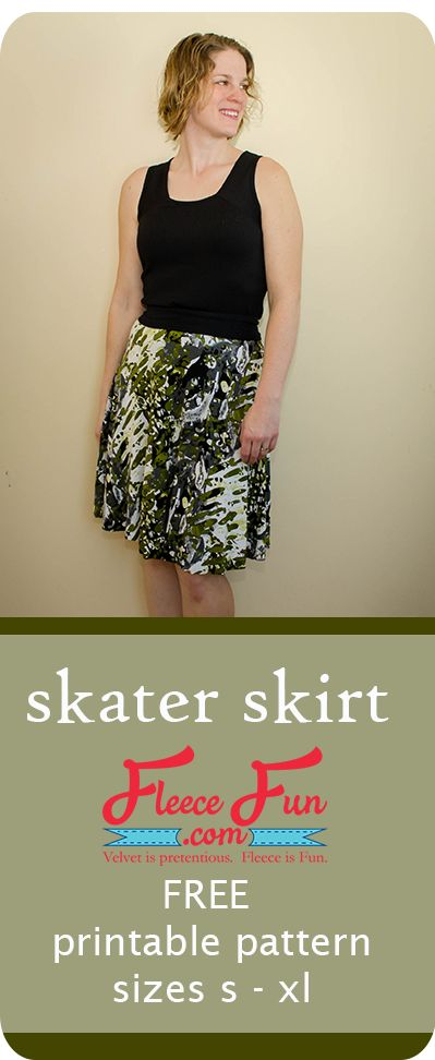 I love this sewing project.  This free adult skirt pattern is easy to put together.  Perfect DIY project for me!