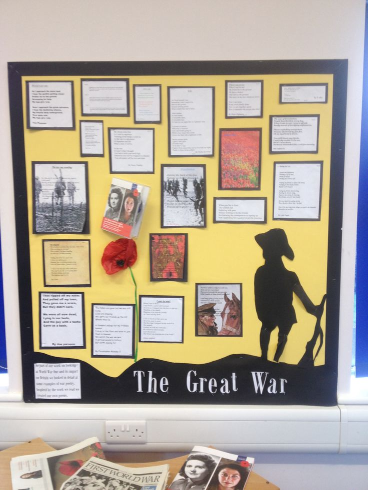 1WW poetry display. Year 5&6.