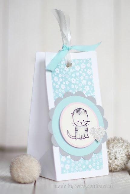 """conibaer.de - Zum Nachwuchs kleine Geschenktüte / """"Made with love"""" small gift bag"""