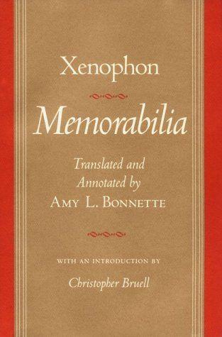 Libro de Memorabilia, en inglés, de Jenofonte, adaptado y traducido en nuestros días.