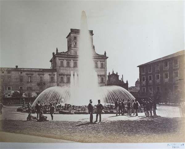 1870 Altobelli Gioacchino . Nuova fontana dell' acqua a Termini.