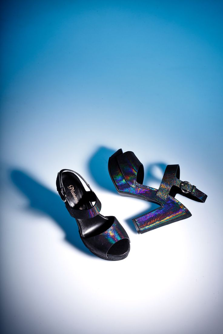 Shimmering platform sandals. Pleasemachine Fall-Winter 2015 Add some sparkling to naughty nights
