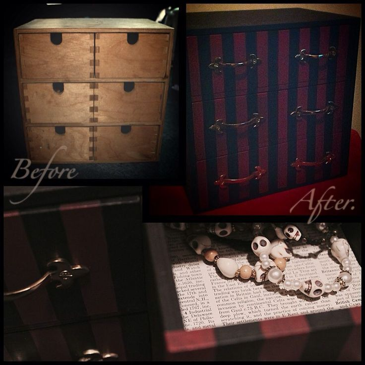 #upcycle #craft #jewellerybox #gothabilly #psychobilly #stripes #handpainted #diy #furniture