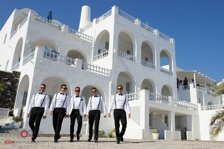 Groomsmen - Atlantida Villas - Santorini Wedding Greece.