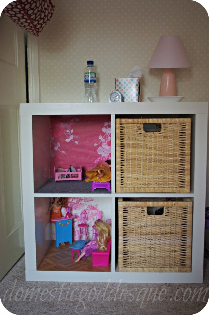 Expedit Bookcase Into Barbie Mansion Except Hang On Wall With Images Barbie House