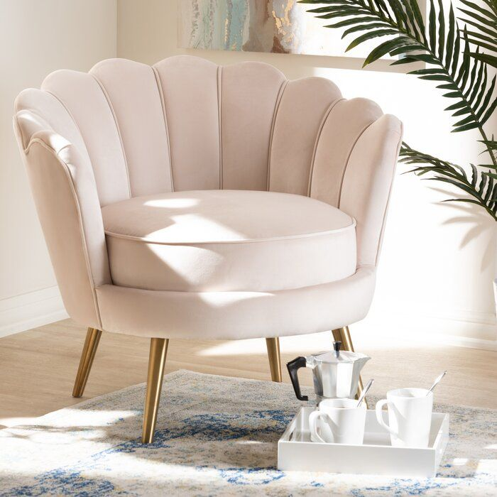 Best Cutshaw Glam And Luxe Velvet Fabric Upholstered Armchair 400 x 300