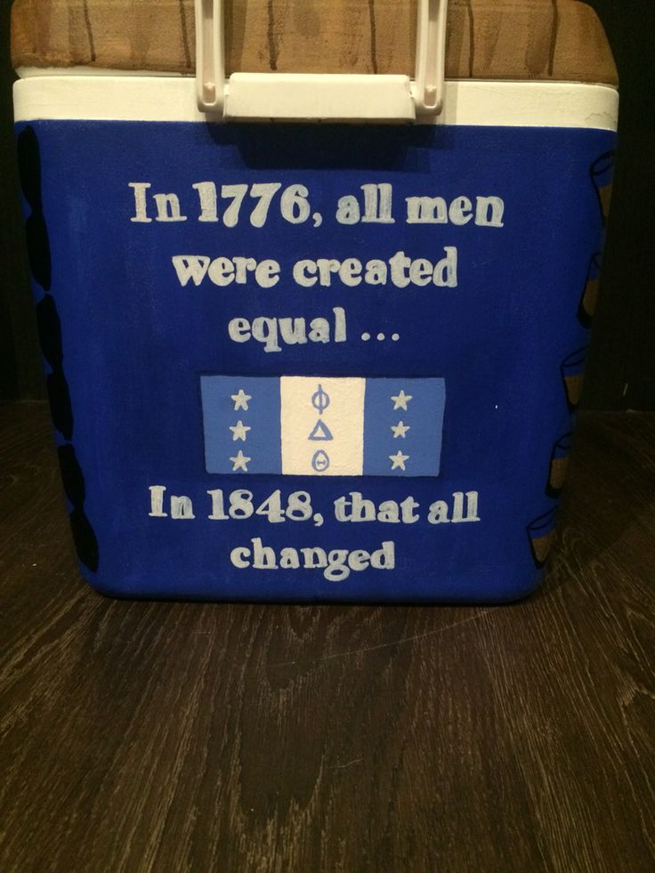 Phi delta theta fraternity cooler