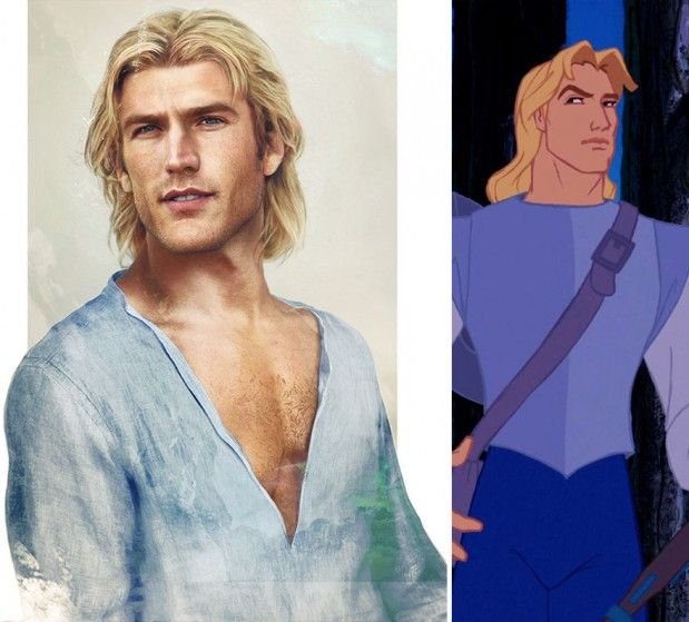 . disney illustrations new versions . JOHN SMITH