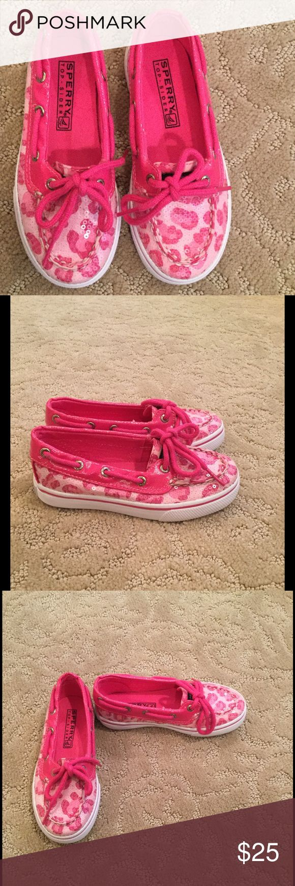Like New Little Girls Sperry Boat Shoes Pink Sperry Boat shoes Never worn Sperry Shoes Sandals & Flip Flops