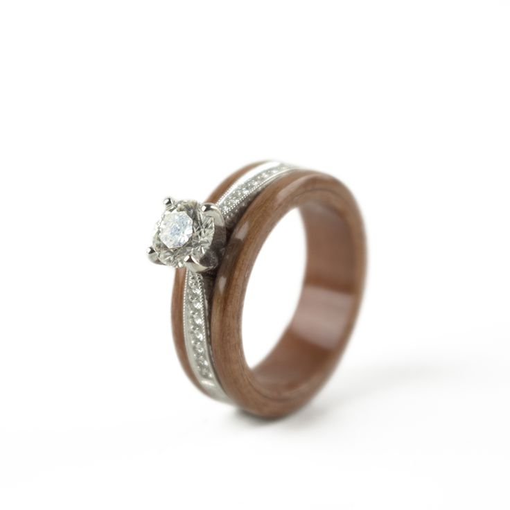 13 best engage naturally wooden engagement rings images