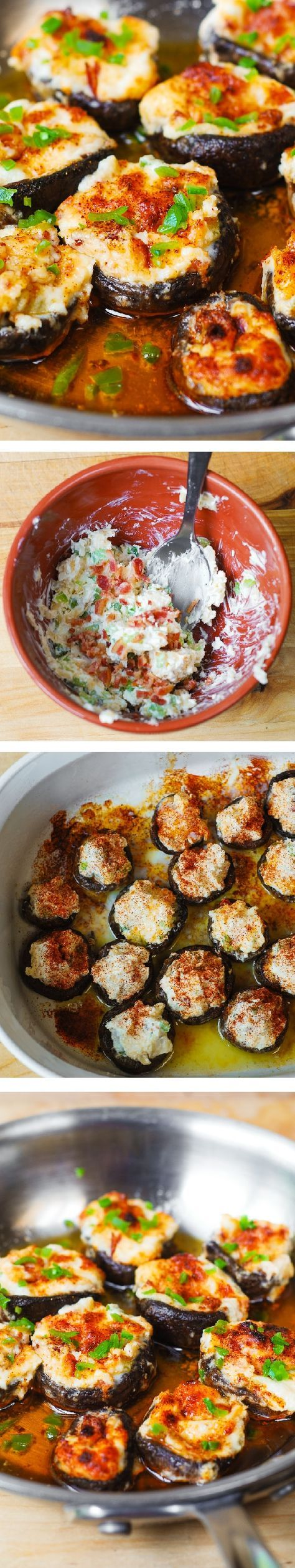 Bacon and Cheese Stuffed Mushrooms – delicious, homemade bite-sized mini-appetizers loved by adults and kids alike!