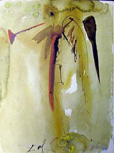 """""""Vox clamantis"""", gouache von Salvador Dali (1904-1989, Spain)"""