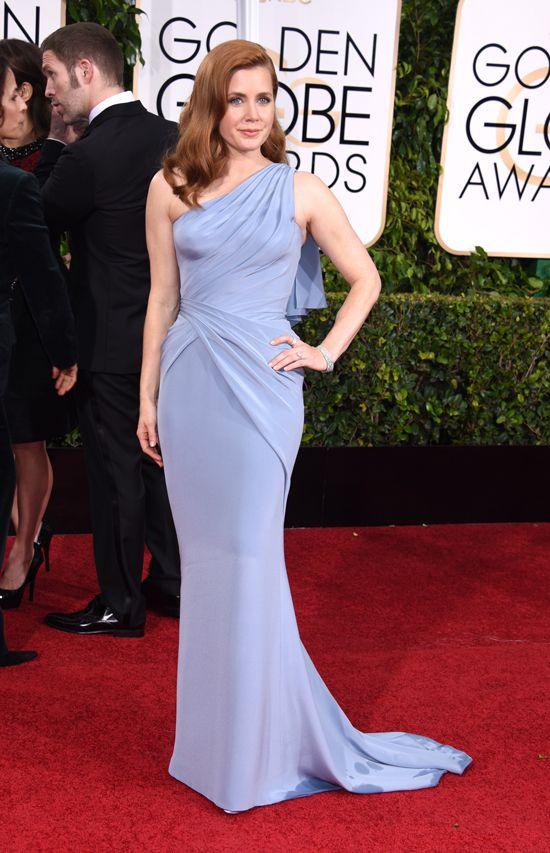 Amy Adams (in Versace) won een prijs voor haar rol in Big Eyes