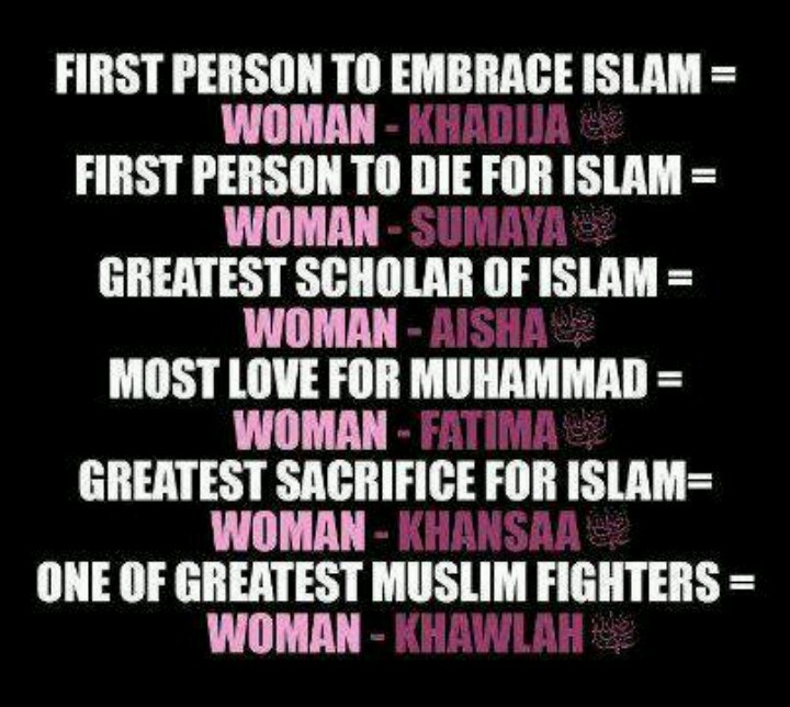 Great famous women in Islam