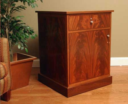 Custom Cherry Electronic Cigar Humidor End Table