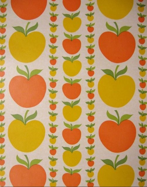 Original Johnny Appleseed Vintage Wallpaper  by DaisiesInTheAttic, $95.00 etsy