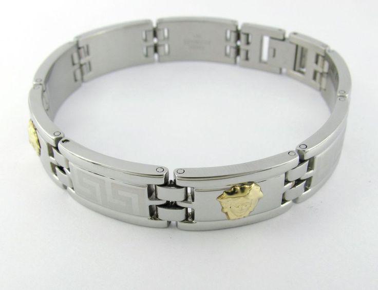 versace Bracelet 18k Solid Gold Medusa Head's 316L Stainless Steel #New #Fashion