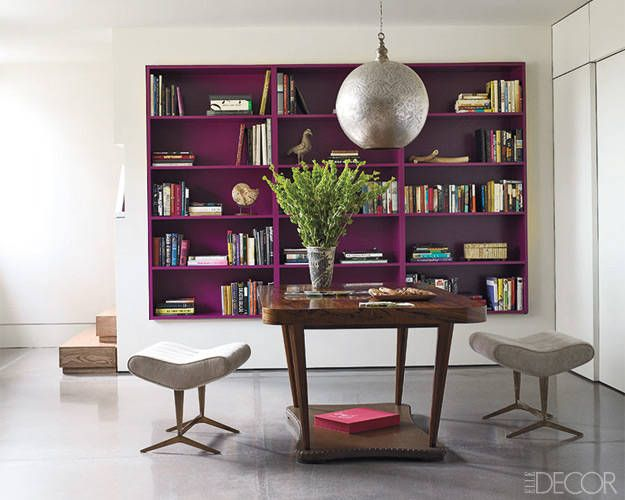 Let A Bright Paint Color Pop By Leaving Open Space On The Shelves.
