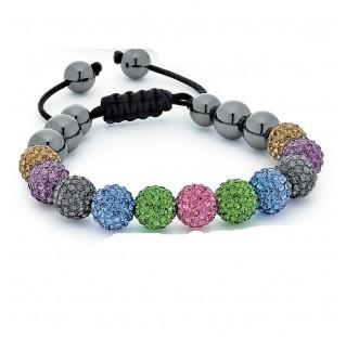 Multi-Colored Shamballa Bracelet: Lil Bit, Jewelry Crafts, Multi Colored Shamballa, Crystal Jewelry, Dream Closet