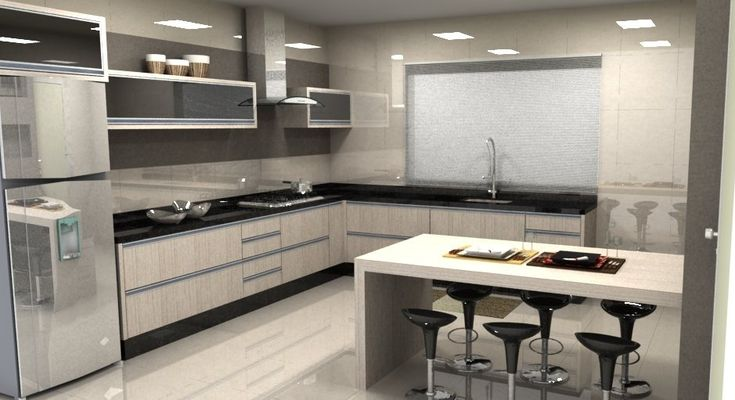 cozinha em apartamento pequena em l - Pesquisa Google