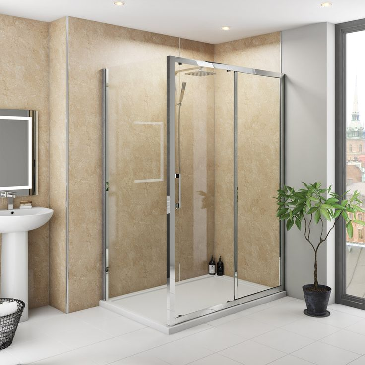 acrylic panels for bathroom walls%0A Multipanel Classic Travertine unlipped shower wall panel      x