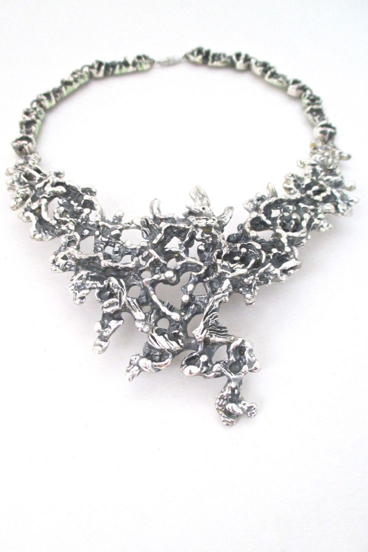1000+ images about Guy Vidal brutalist pewter jewelry on ...