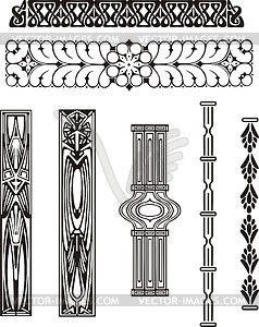 Ornamente im Jugendstil - Vector-Clipart EPS