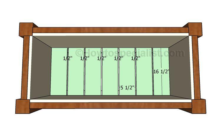 Attaching the floor slats