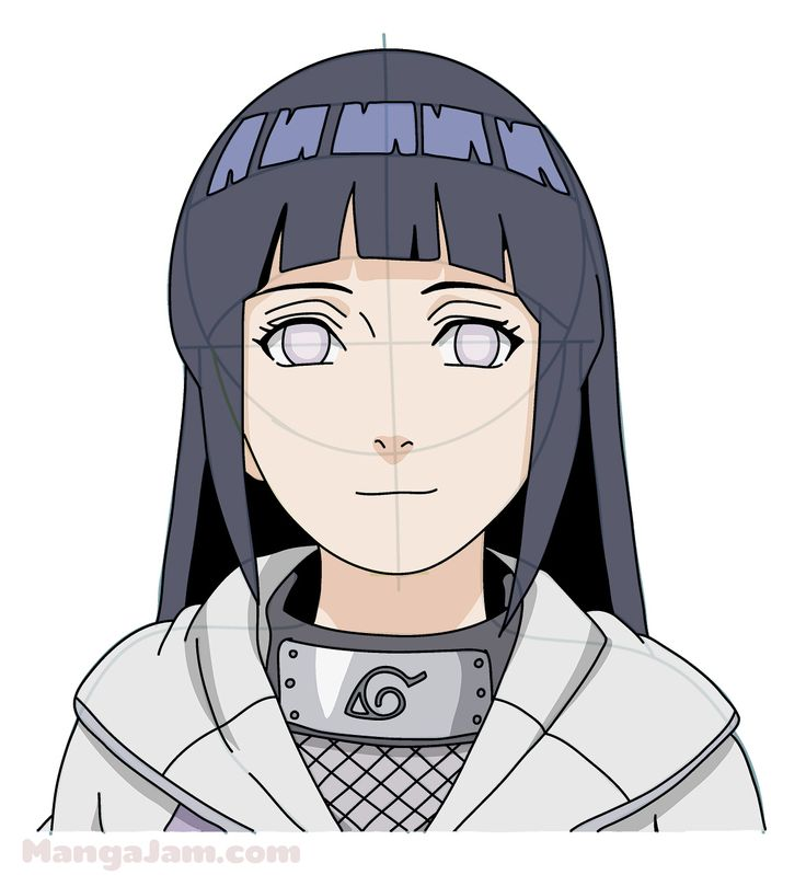 How to draw hinata from naruto