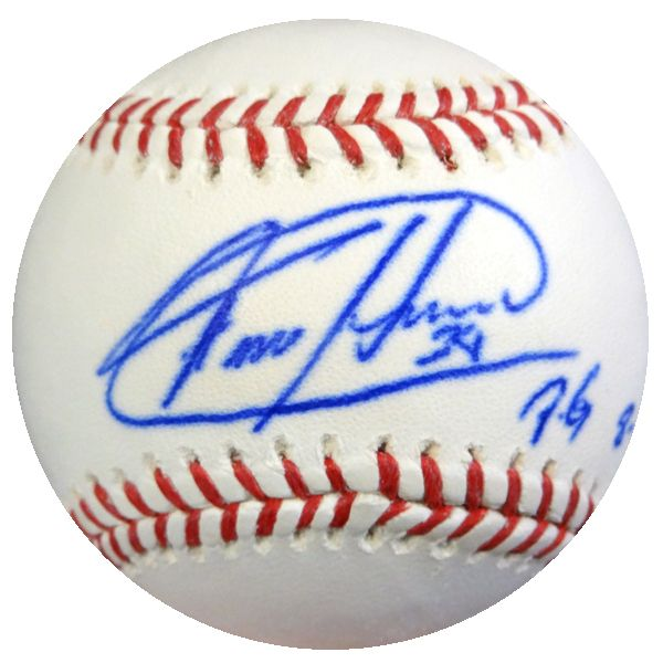 "Felix Hernandez Autographed Official MLB Baseball Seattle Mariners """"PG 8-15-12"""" PSA/DNA #4A52990"