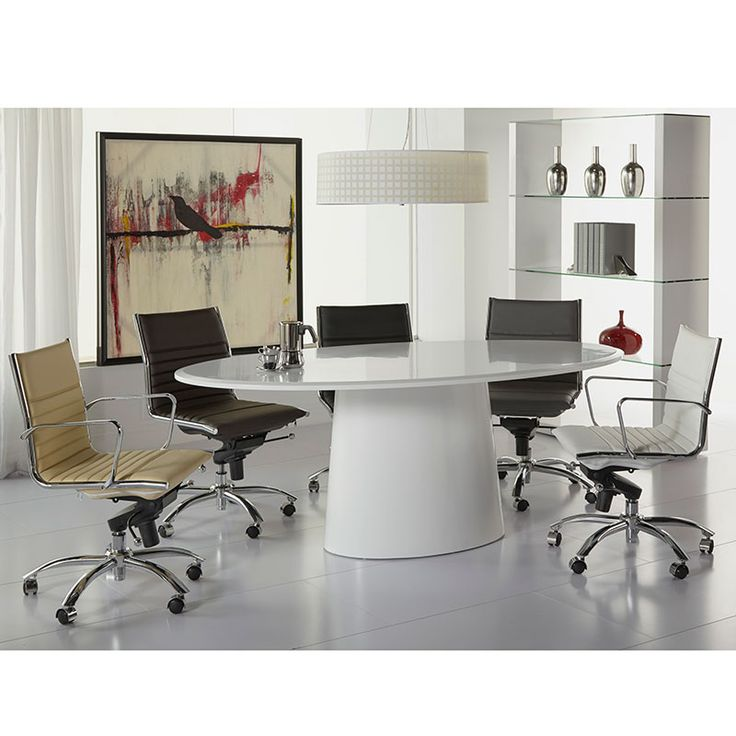 Daniel Oval Table + Drake Office Chairs