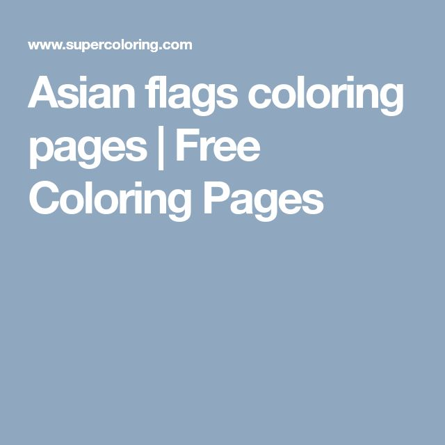 Asian flags coloring pages | Free Coloring Pages
