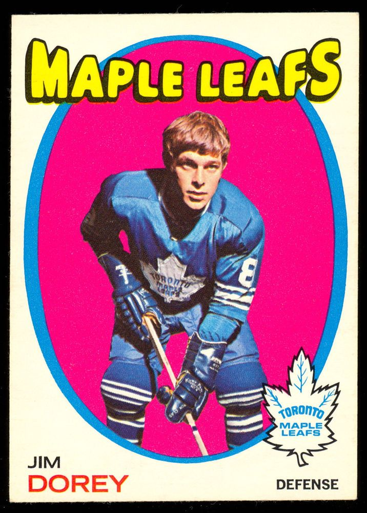 1971 72 Topps 57 JIM DOREY NM TORONTO MAPLE LEAFS CARD #TorontoMapleLeafs