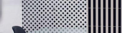 Faience murale blanche à pois noirs 20x50cm - 1m²