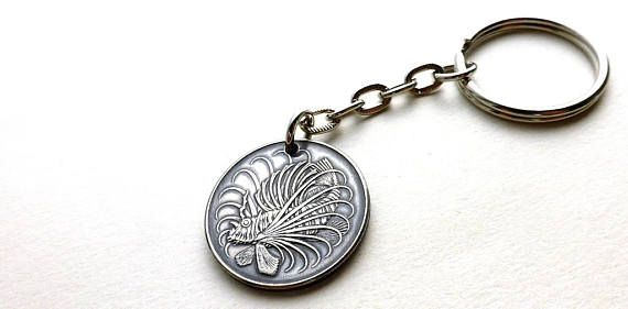 Keychain Singapore Fish keychain Nautical keychain Fish