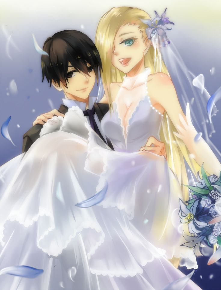 sai and ino wedding lillies naruto pinterest