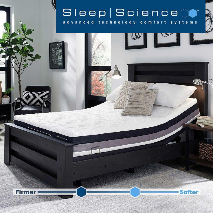 """Sleep Science 10"""" iFlip Solano Queen Memory Foam Mattress"""