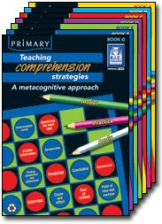 Teaching metacognitive strategies is a contemporary blackline master series that methodically and creatively teaches students the skills and strategies needed for effective comprehension.