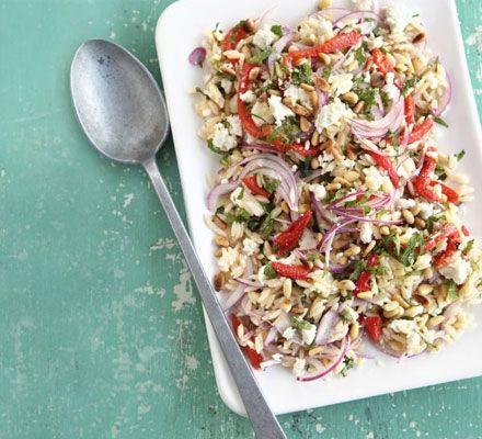 Orzo, feta & pepper salad