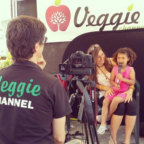 "Veggie Channel set during the ""VEG in ROME"", 13-15 June 2014"