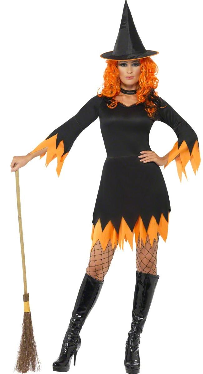 Une tenue de sorcière aux couleurs d'Halloween et ensorceleuse à souhait !  Rendez-vous dans notre rubrique déguisements de sorcière et retrouvez de nombreux modèles.  http://www.deguisement-magic.com/deguisements/deguisement-femme/sorciere.html