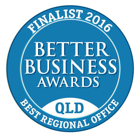 I am enormously proud to announce that we are a finalist in the Better Business Awards Qld for Best Regional Office. Its going to be a long wait until February 18th. Thank you so much to our local community for your continual support.