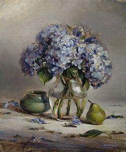 Ellen Buselli - Blue Hydrangeas