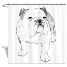 Bulldog Drawing Shower Curtain