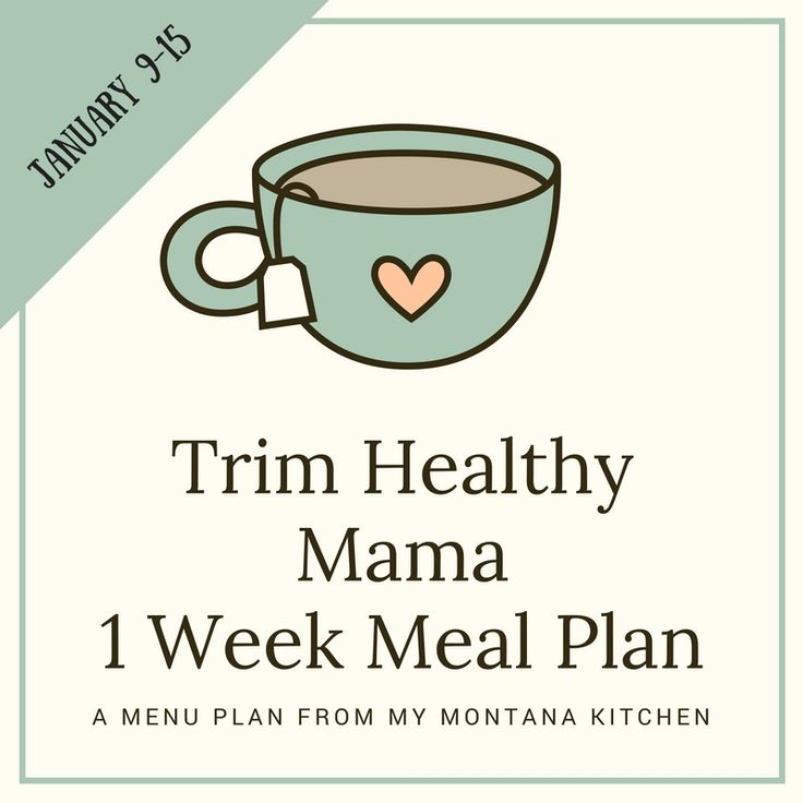 Trim Healthy Mama Friendly Menu Plan