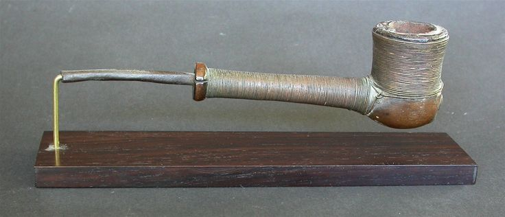 A Very Fine Antique Early 20th C Ngangela Pipe Wire Bound Angola Stand | eBay