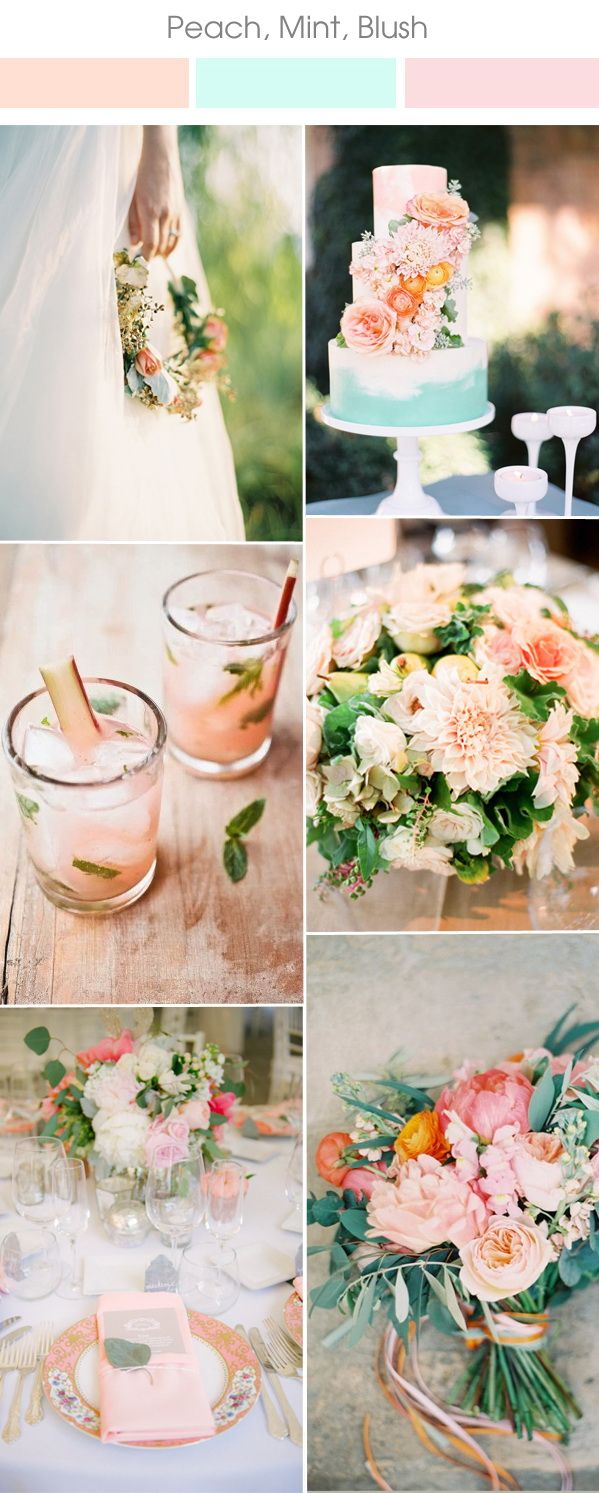 peach and mint wedding color ideas for spring summer 2017 wedding