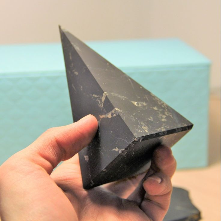 Store Shungite 70 mm Non-polished shungite high pyramid $43.99