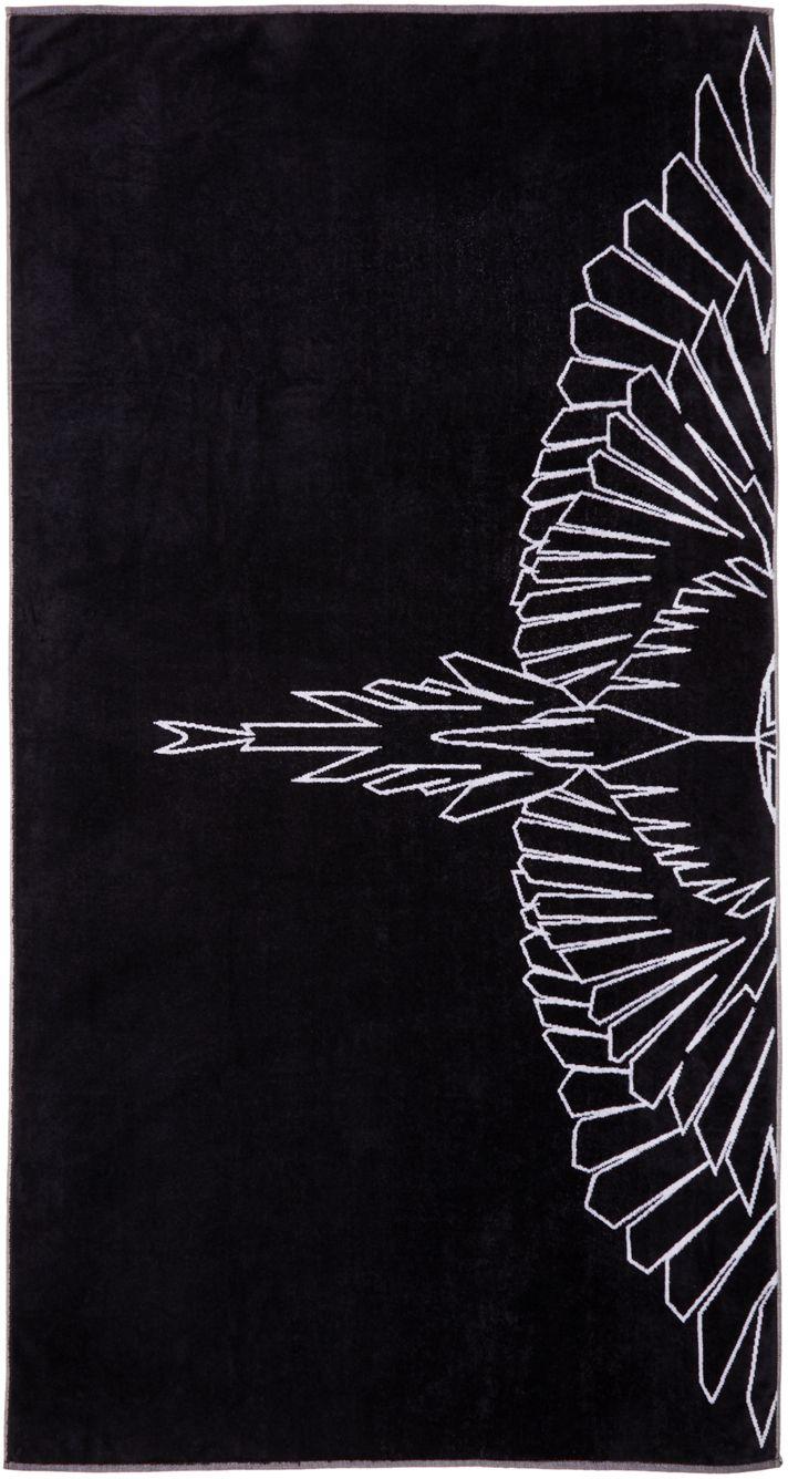 Marcelo Burlon County of Milan: Black Maipu Towel | SSENSE