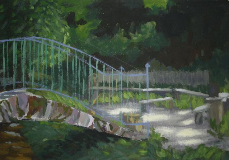 Bridge to the forest #academic #bridge #forest #light #painting #traditional #traditionalart #art